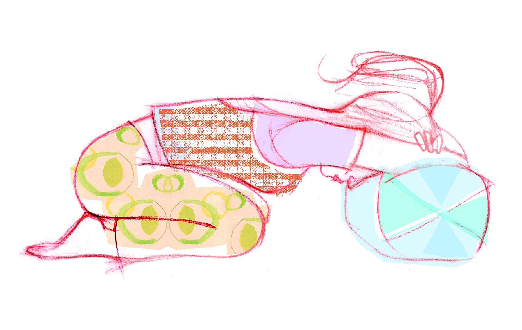 Posizione del bambino con la testa sul cuscino