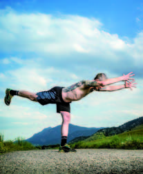 yoga e trail running Agile come uno stambecco 2b