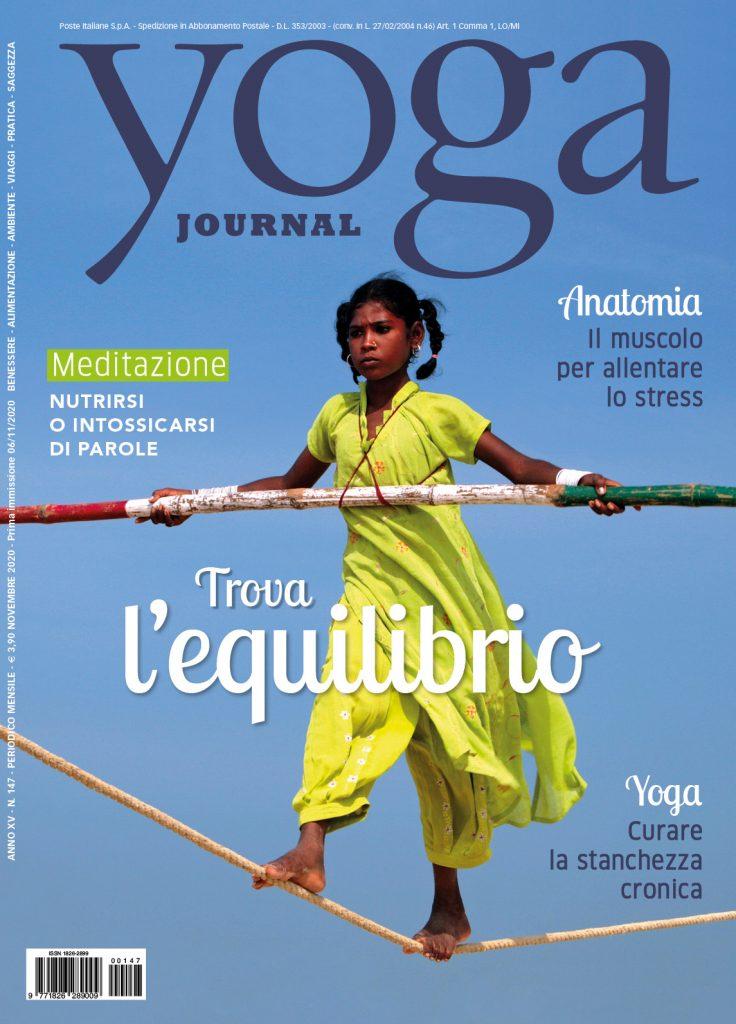 Copertina rivista Yoga Journal Novembre 2020