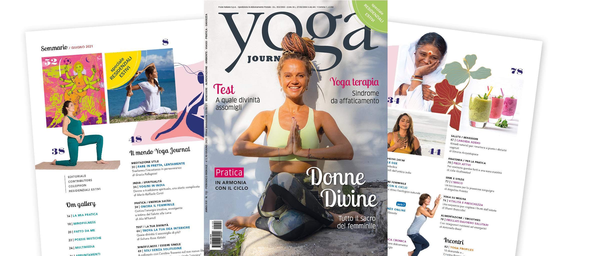 Nuovo Numero Yoga Journal Giugno
