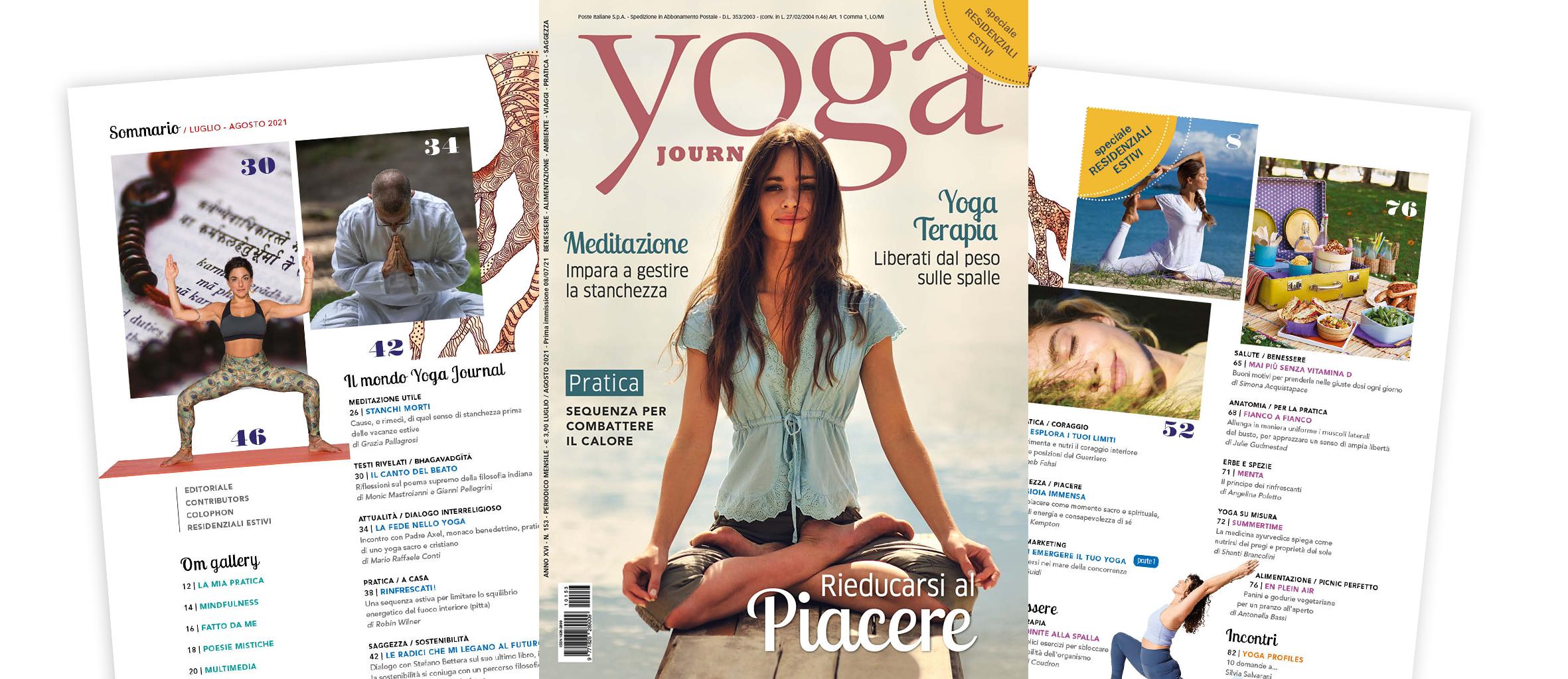 Nuovo Numero Yoga Journal Luglio/Agosto